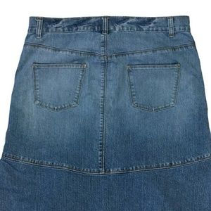 Elite Jeans Skirts - Modest Maxi Denim Skirt 15/16 Mermaid 35W 37L